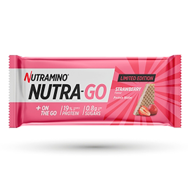Image of Nutramino Nutra-Go Protein Wafer Strawberry Limited Edition 12x39g