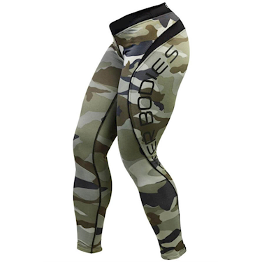 Better Bodies Green Camo Long Tights