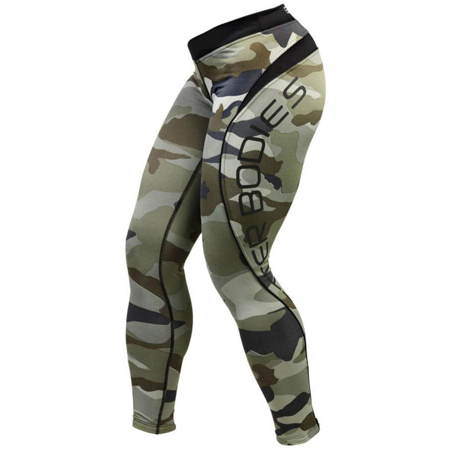 Image of   Better Bodies Green-Camo Long Tights
