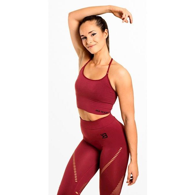 Image of Better Bodies Astoria Seamless Bra Sangria Red
