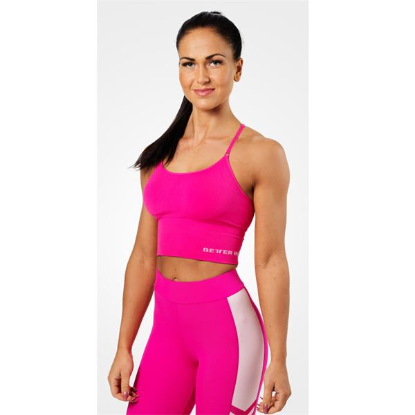 Image of Better Bodies Astoria Seamless Bra Hot Pink