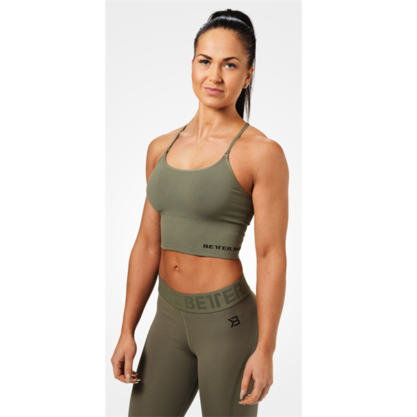 Image of Better Bodies Astoria Seamless Bra Wash Green