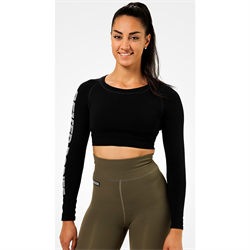 Better Bodies Bowery Cropped Longsleeve Black