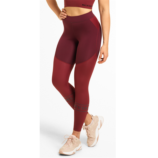 Image of Better Bodies Chrystie Shiny Tights Deep Maroon