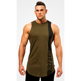 Better Bodies Stanton Tank Khaki Green