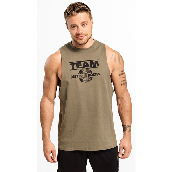 Image of Better Bodies Team BB Tank Wash Green