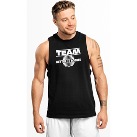 Better Bodies Team BB Tank Wash Black