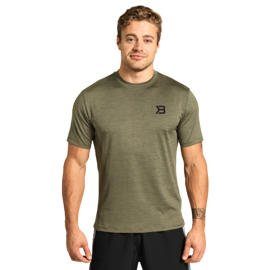 Better Bodies Essex Stripe Tee Wash Green Melange