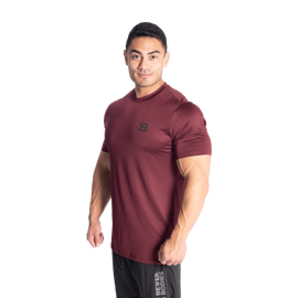 Better Bodies Essex Stripe Tee Maroon Melange
