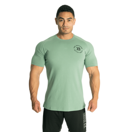 Better Bodies Gym Tapered Tee Teal Green