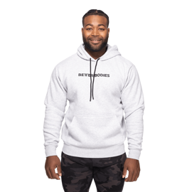 Better Bodies Logo Hoodie Light Grey Melange (Unisex)