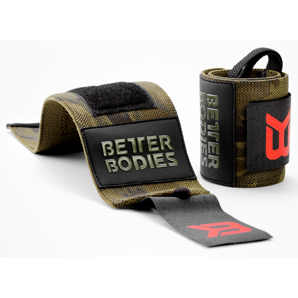 Better Bodies BB Camo Wrist Wraps, Dark Green Camo