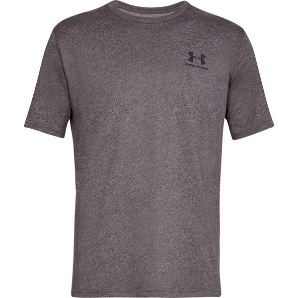 Under Armour Sportstyle Left Chest Short Sleeve Charcoal Medium