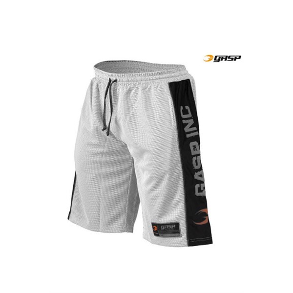 Image of   GASP No 1 Mesh Shorts White/Black