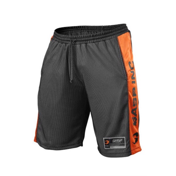 Image of   Gasp NO1 Mesh Shorts Black/Flame