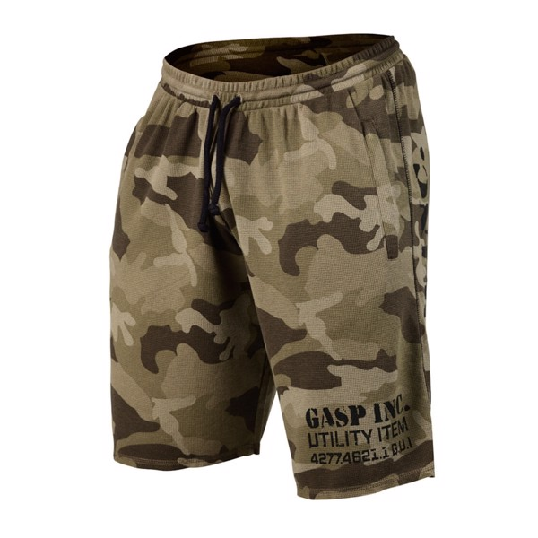 Image of   GASP Thermal Shorts - Green Camoprint