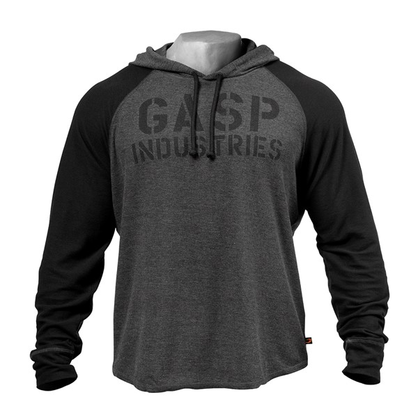 Image of   Gasp l/s Thermal Hoodie Graphite Melange