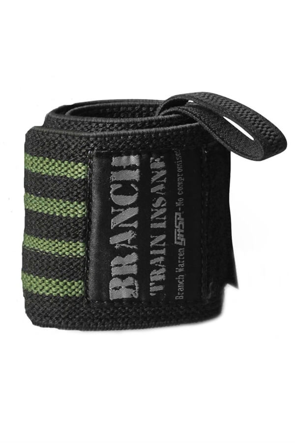 "Gasp Branch 18"" Wrist Wraps Black/Green"