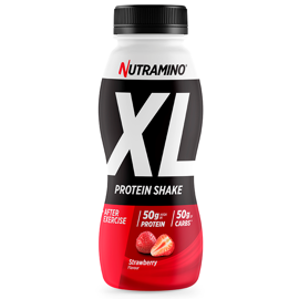 Nutramino Protein XL Shake Strawberry 500ml - 12 stk