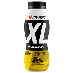 Nutramino Protein XL Shake Chocolate/Ba 500ml - 12 stk
