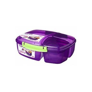 Sistema Triple Split Lunch Box with Yogurt Pot 2L