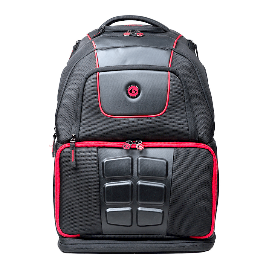 Image of   6 Pack Voyager Backpack Black/Red