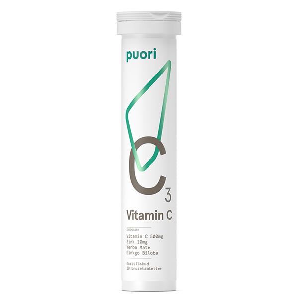 Image of Puori Vitamin C3 20 Tabletter