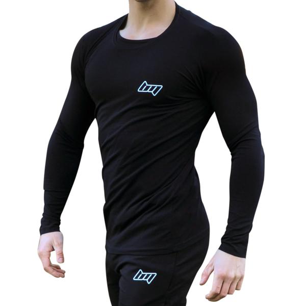 Image of BM Shape Tee Long Sleeve Black