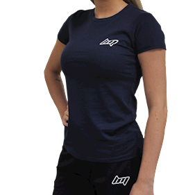BM Womens Fitted Tee Blue Navy