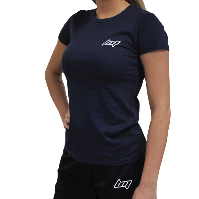 Image of BM Womens Fitted Tee Blue Navy