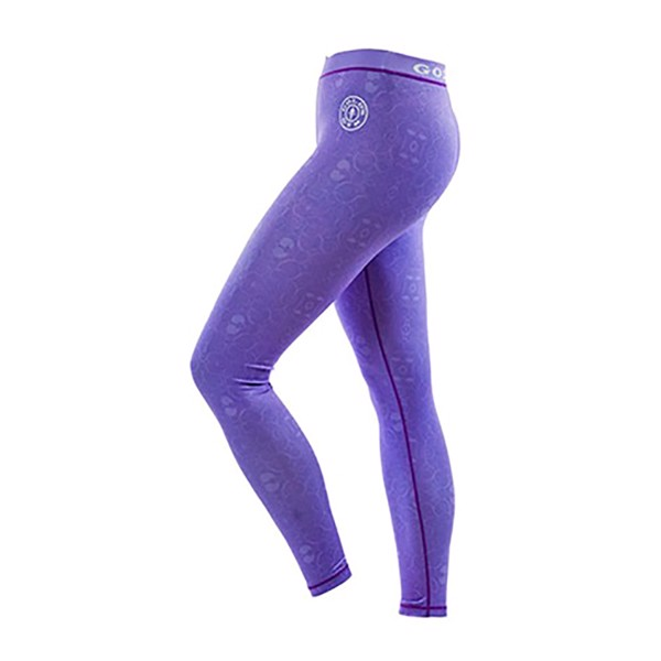 Image of Golds Gym Pattern Printed Long Gym Tight Pants Lilac
