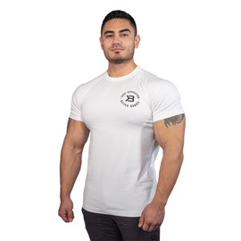 Better Bodies Gym Tapered Tee White