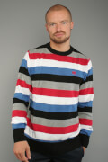 Ecko Unltd Core Stripe Sweater True Ecko Red