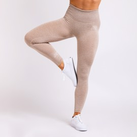 BM Seamless Ribbed High Waist Tights Khaki