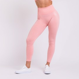 BM Seamless Ribbed High Waist Tights Pink