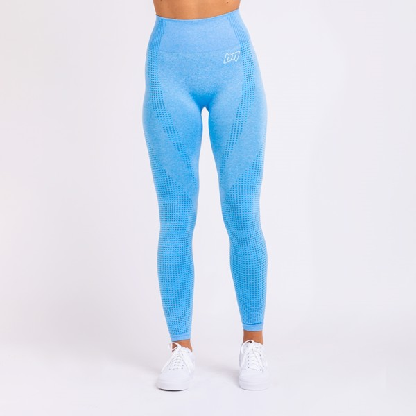 BM Seamless High Waist Tights Light Blue
