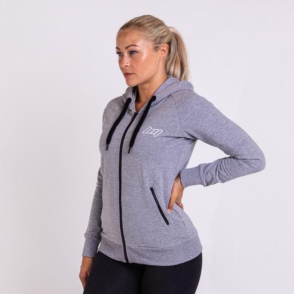 BM Sport Hooded Zip Sweat Oxford Grey | cykeltrøje