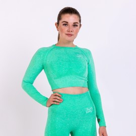 BM Seamless Long Sleeve Cropped Top Mint Green