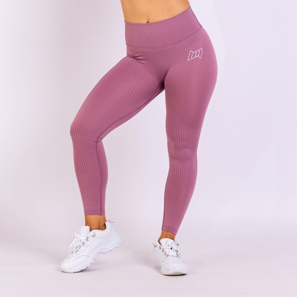 BM Seamless Ribbed High Waist Tights Dusty Pink | cykelbuks