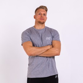 BM Mens Fitted Tee Oxford Grey