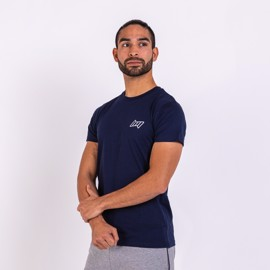 BM Mens Fitted Tee Blue Navy