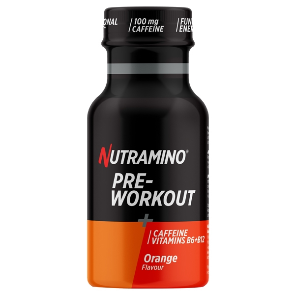 Nutramino +Pro Pre Workout Shot Orange 60ml - 12 stk