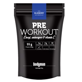 Bodyman Pre Workout Blueberry