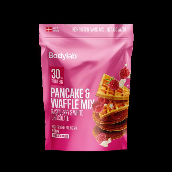 Køb Bodylab Pancake & Waffle Mix White Chocolate & Raspberry 500 g