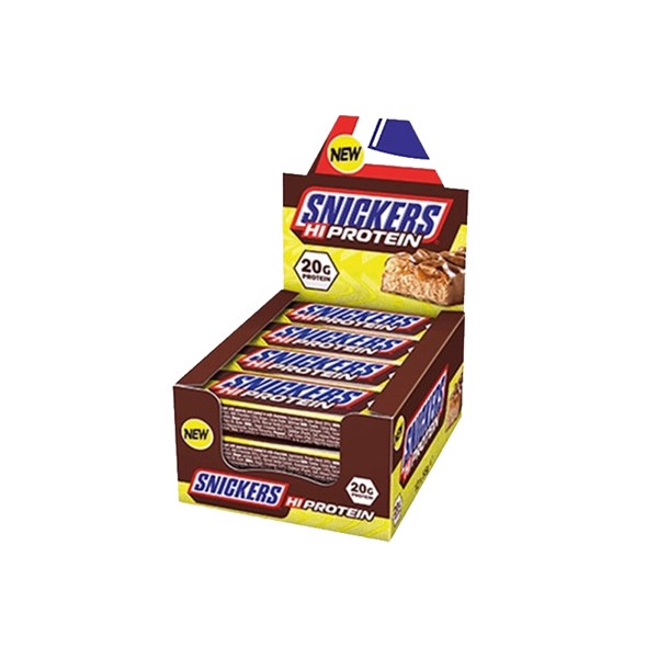 Køb Snickers Hi-Protein Bar Chocolate Caramel & Nuts, 12x55g