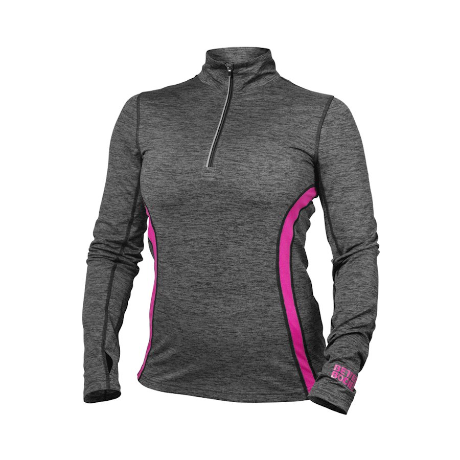 Image of   Better Bodies Performance Mid Longsleeve Graphite/pink