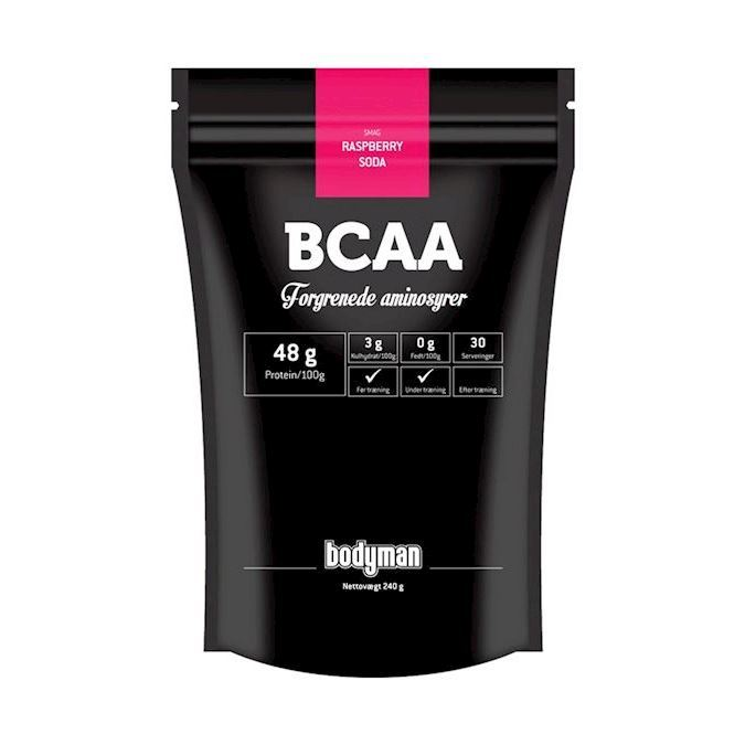 Image of Bodyman BCAA Raspberry Soda 240g