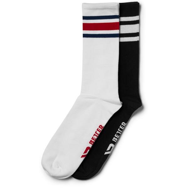 Billede af Better Bodies Brooklyn Socks 2-Pack Black/Red
