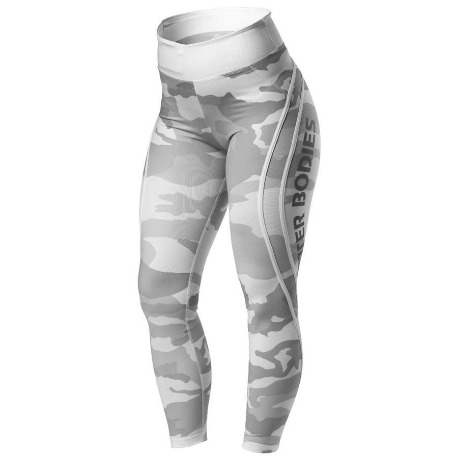 Image of   Better Bodies Camo High Tights White Camo