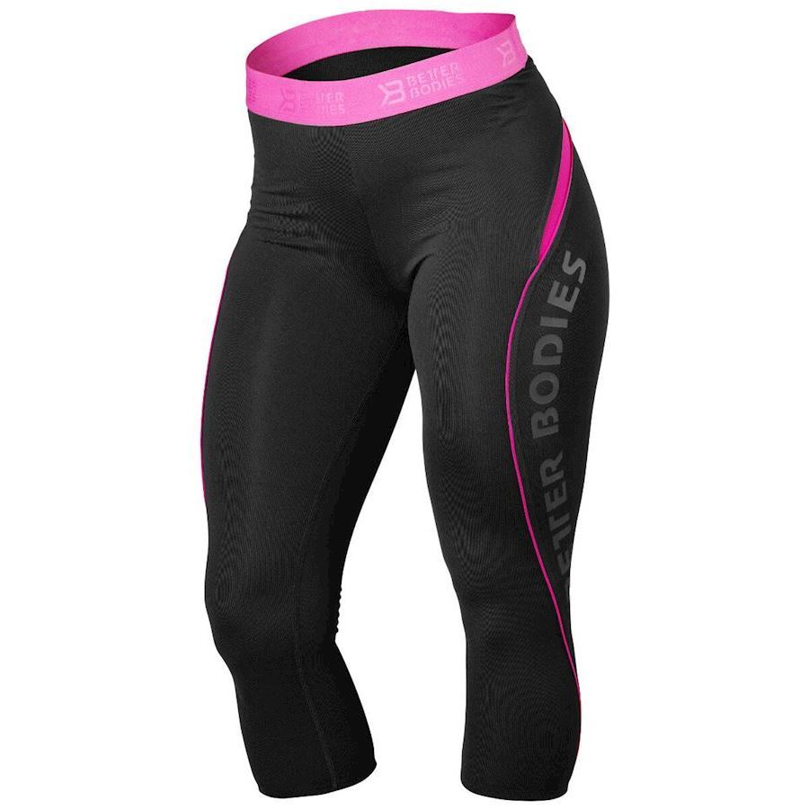 Image of   Better Bodies Fitness Curve Capri Black/Pink